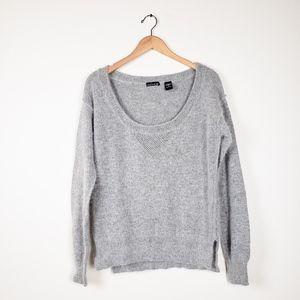 MODA International Light Grey Fuzzy Soft Sweater